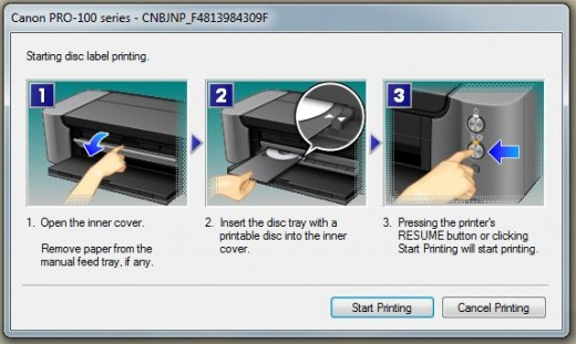 Canon Printer Dialog Box