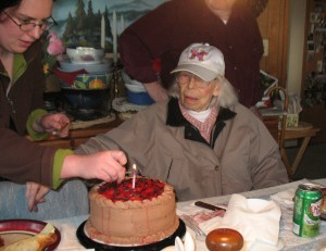 My Husband's Grandma on her 90th Birthday. She was the sweetest person but Alzheimer's took its toll.