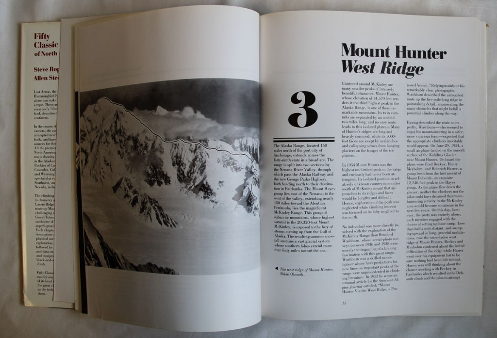Climbing Mount Hunter, West Ridge Book