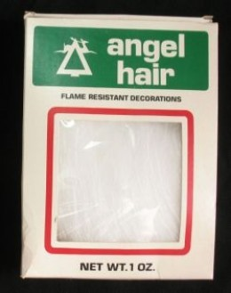 vintage box of angel hair decoration - Angel Hair Christmas Decoration