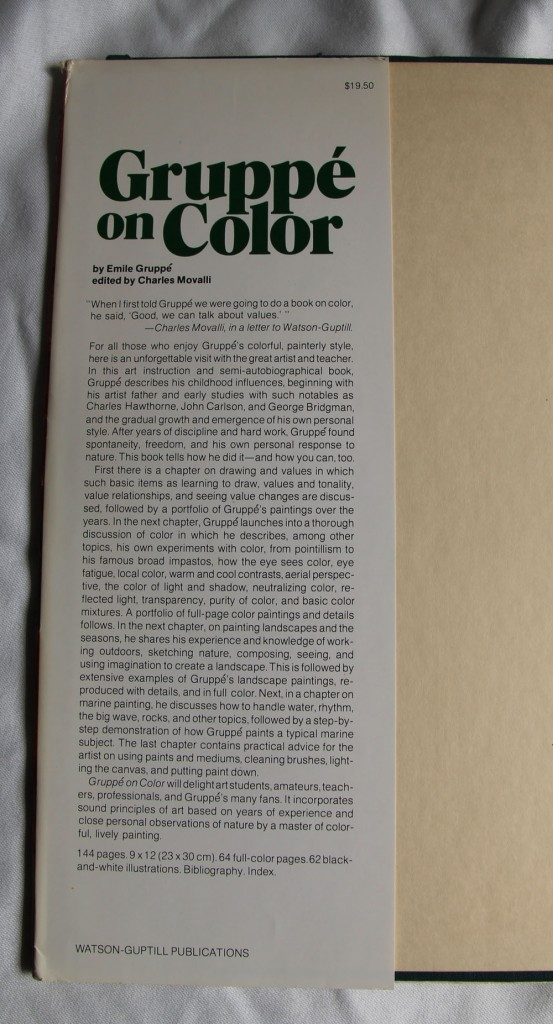 Gruppe on Color: Dustjacket Flap with Book Description