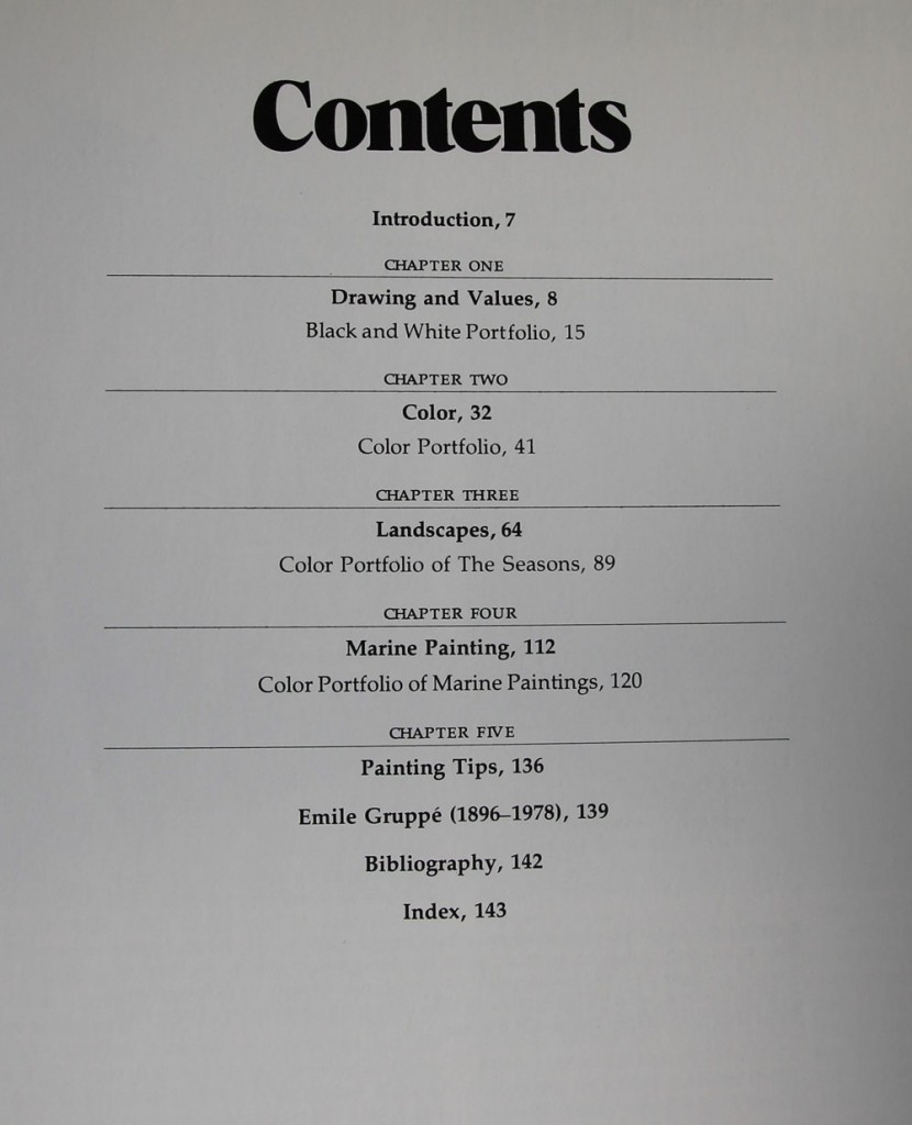 Gruppe on Color: Table of Contents