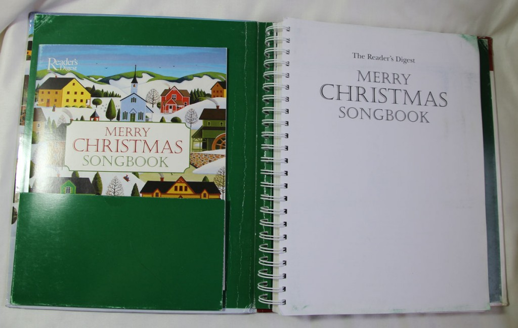 Merry Christmas Songbook with Lyrics Booklet in Front Pocket