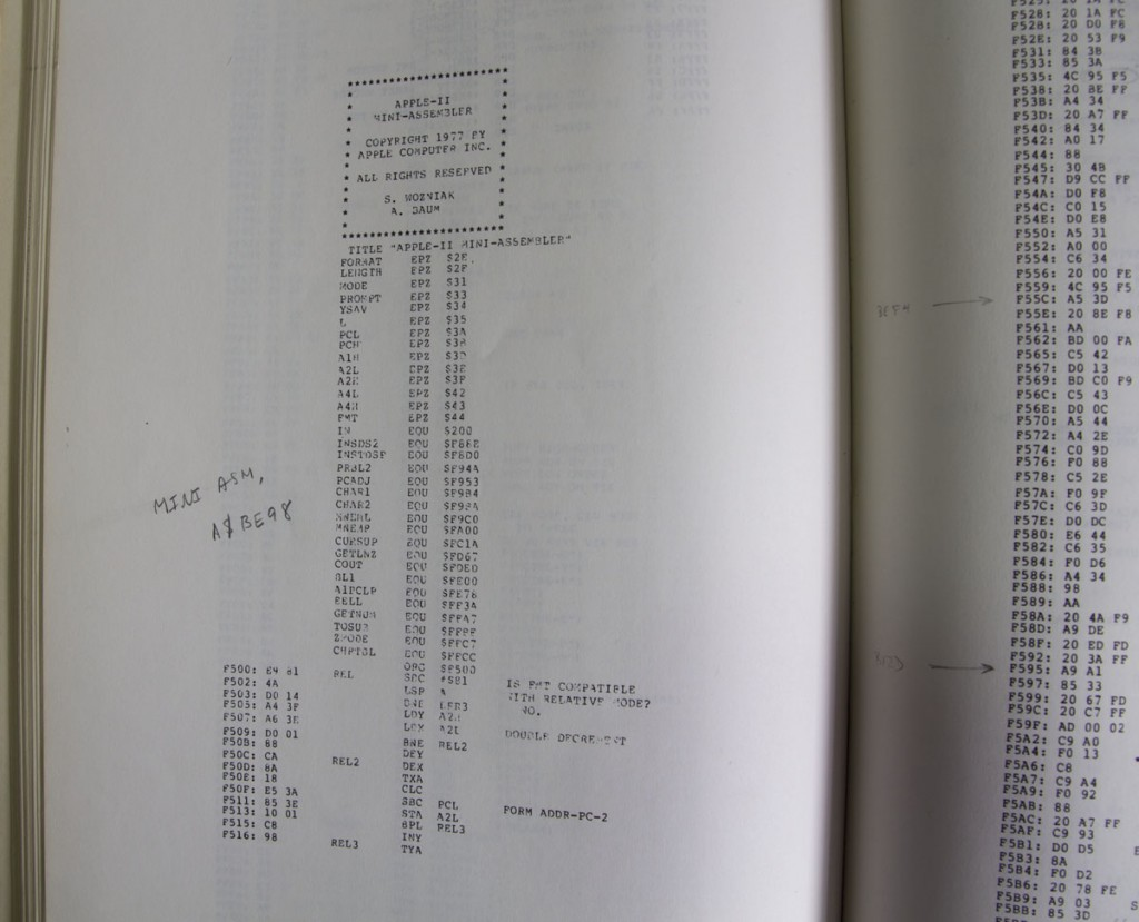 The Apple II Reference Manual has programs written by Steve Wozniak, like this Apple II Mini-Assembler.