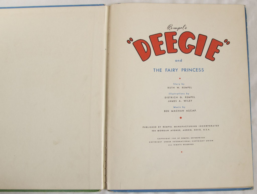 Deegie and the Fairy Princess Title Page