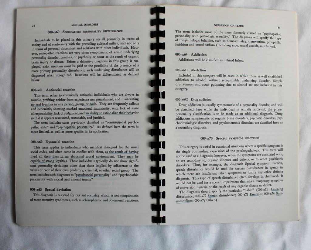 DSM-I Sample Pages