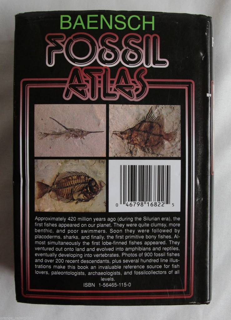 Back Cover of Fossil Atlas Fishes
